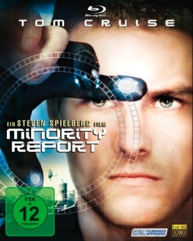 Promotional poster of Tom Cruise in the film Minority Report