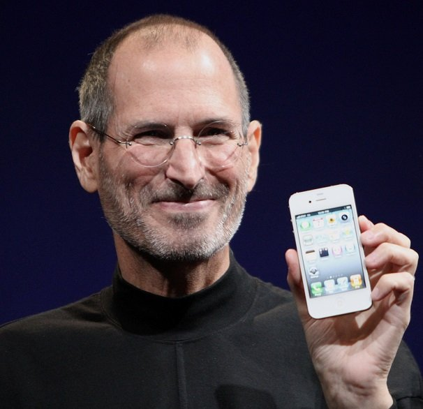 Steve Jobs, CEO of Apple, demonstrating an iPhone. Source: Wikipedia