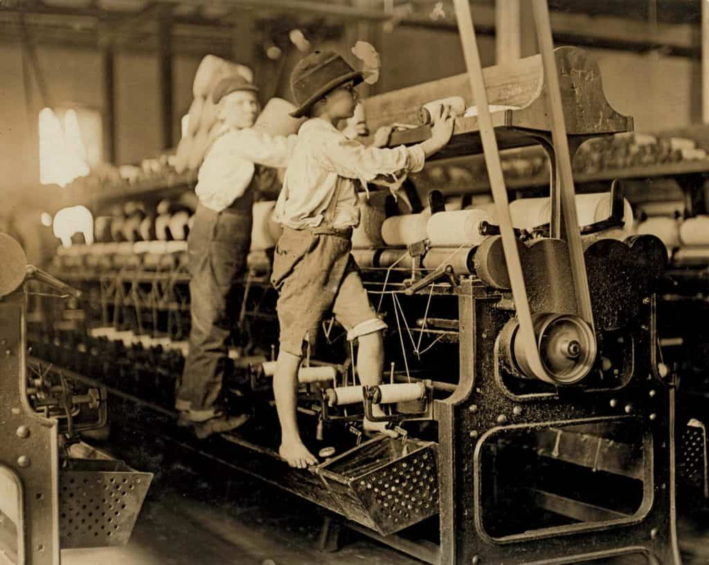 Boys working in a mill in the original Industrial Revolution. The original Industrial Revolution was fuelled by coal. The Data Revolution is fuelled by the data that companies accumulate about us.