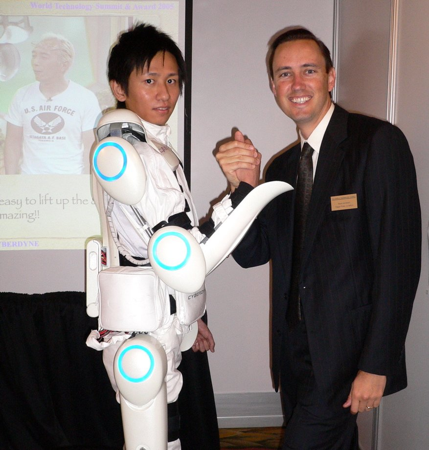 An example of AI in healthcare. An electronic exoskeleton developed by Tsukuba University of Japan. Image source: Wikimedia Commons