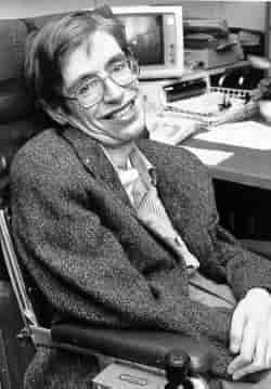 The cosmologist Stephen Hawking, who suffered from ALS