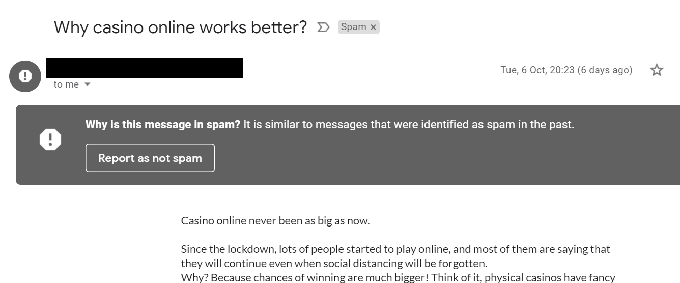 spam email min