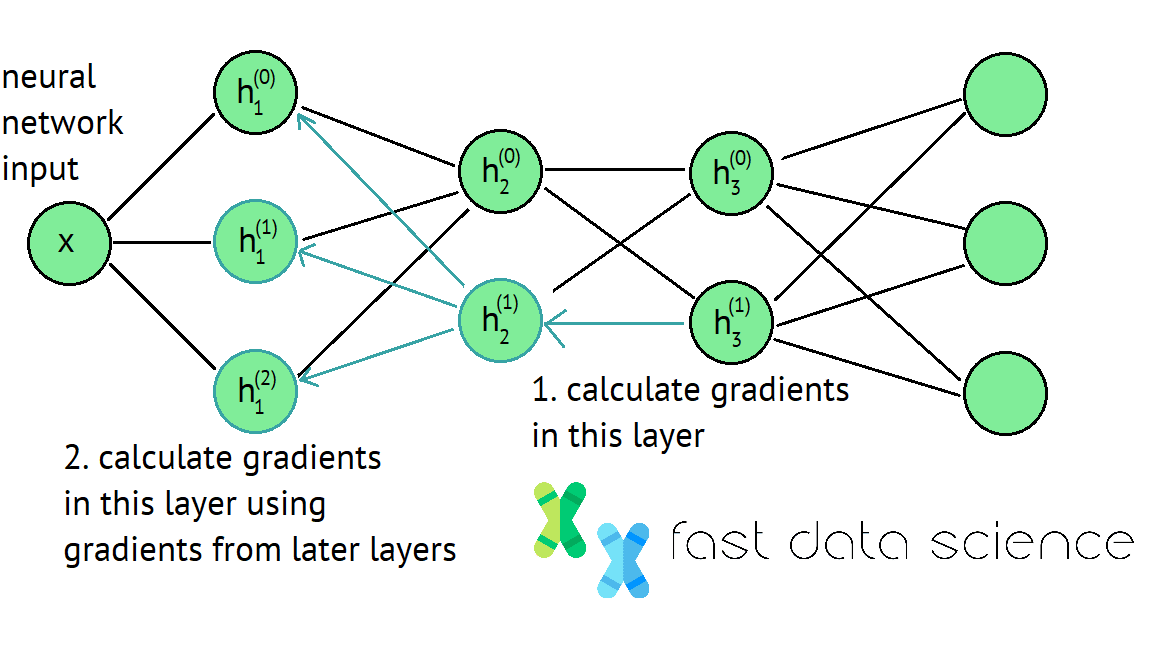 The backpropagation algorithm is key to deep learning and data science. It involves working your way backwards through a neural network from its end to its start, at each point calculating how you need to update the weights.